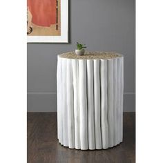 Mistana™ Izabella End Table & Reviews | Wayfair Metal End Tables, End Tables With Storage, White Table Top, Folding Room Dividers, Wood Ladder, Ladder Bookcase, Round Stool, Thing 1, Side Chairs