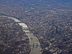 """The """"Aerial view of cities"""" thread seems to have disappeared for some reason :( so I hope it's okay if I make a new one. Waterloo Sunset, Tower Bridge, Aerial View, City Photo, London, Places, Sunsets, Cities, City"""