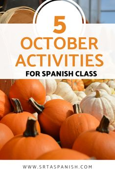 Check out some of my favorite October activities for Spanish class! Make the most of the entire month of October with these great activities and ideas! High School Classroom, Spanish Classroom, Teaching Spanish, Spanish Lesson Plans, Spanish Lessons, Spanish Activities, Class Activities, Middle School Spanish, Hispanic Heritage Month