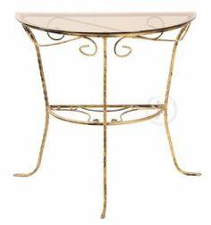 DecoArt24.pl - Masz nieco miejsca w domu, a nie wiesz, jak je zagospodarować? Zawsze brakuje Ci przestrzeni do postawienia kawy czy położenia czegoś pod ręką? Ten półokrągły, estetyczny stolik z pewnością spełni Twoje wymagania - zarówno estetyczne, jak również praktyczne #DecoArt24.pl #meble #furnitures #stoly #tables #metaloplastyka #metalwork #amazing #exciting #adorable #bright #cute