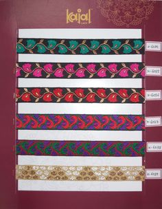 Product details  Lace Types   borders lace for women wear   Item code    Fabrics Weaving  To be Used IN   Sarees , Dresses ,suits , lehengha , kurties , tracation , Jackets , Belt , Blouses , Handbags , Fashion Accessories , Curtains , Bedspread , Pillocases , Household , Liner , Handi-crafts , Gift Article , Decorative , Wedding Gown  &  Even Menswear