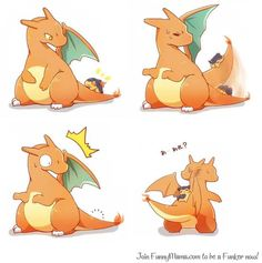 Charizard and Cyndaquil--AWWW. So funny and so warm and cuddly too! ^u^