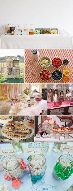 Breakfast in Candyland - food ideas - tea bar, smoothie bar, pancake bar, crepe bar. Shower Party, Baby Shower Parties, Bridal Shower, Wedding Food Stations, Drink Stations, Crepe Bar, Pancake Bar, Party Food Bars, Smoothie Bar