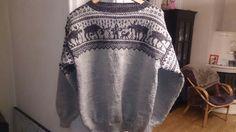 18 Des Elg Marius genser str L Double Knitting Patterns, Filet Crochet, 18th, Kimono Top, Cross Stitch, Cover Up, Tops, Dresses, Women