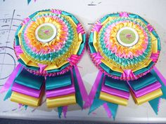 These colors would be awesome for a Spring themed or Easter show!  From Regal Rosettes in Florida.