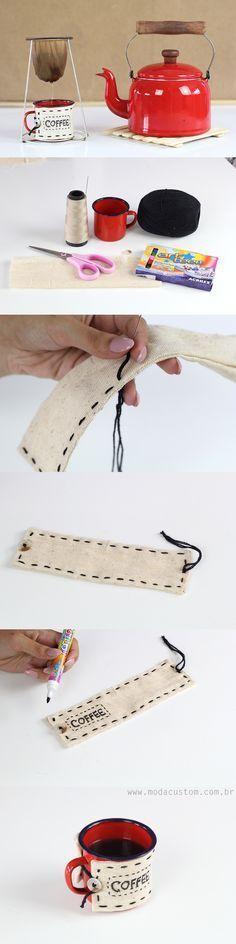Aprenda a fazer uma roupinha de caneca rústica! Veja o tutorial completo e em vídeo no blog! Dyi, Sunglasses Case, Diy Crafts, Sewing, How To Make, Handmade, Blog, Rustic Mugs, Everything
