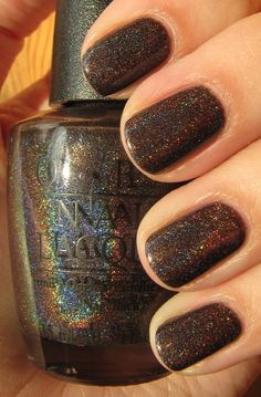 OPI's My Private Jet: Looks different on everyone - on me a dark grey/brown with subtle glitter.