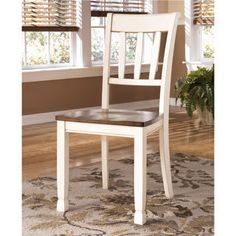 Signature Design by Ashley 'Whitesburg' Two-tone Dining Room Side Chair (Set of 2) | Overstock.com Shopping - The Best Deals on Dining Chairs
