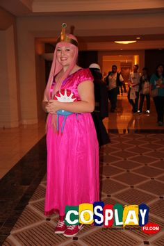 Princess Bubblegum Cosplay from Adventure Time in Pacific Media Expo. 2012 United States