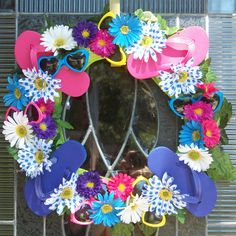 I made this today! Summer fun wreath!