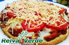 Sabores Saudáveis Para Massa de Pizza Integral Relva Verde