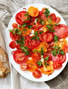 Tomatoes, chilli, parsley - from Hugh Fearnley-Whittingstall's Three Good Things