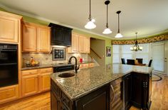 Traditional Kitchen dark oak kitchen cabinets Design Ideas, Pictures, Remodel and Decor New Kitchen, Kitchen Cabinet Design, Wood Kitchen, Kitchen Remodel, Oak Kitchen, Kitchen Design, New Kitchen Cabinets, Kitchen Cabinets, Modern Oak Kitchen