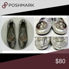 🌹Tory Burch Reva Flats🌹 Preloved! Soles and outside are in great condition! No Box. Some wear scratches in the Emblem- from normal wear. Great condition! Tory Burch Shoes Flats & Loafers