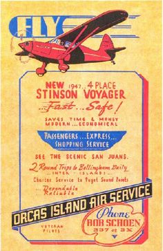 Stinson 108 Vintage Poster