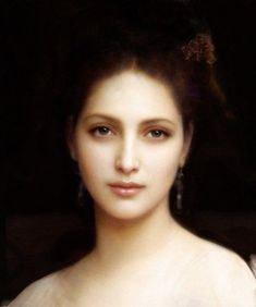 I wish he could paint my portrait. Portrait Painting by William Adolphe Bouguereau French Neoclassical Master// William Adolphe Bouguereau, L'art Du Portrait, Digital Portrait, Woman Portrait, Art Plastique, Beautiful Paintings, Love Art, Painting & Drawing, Cave Painting