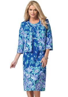 Roaman's®  2pc Printed Jacket Dress