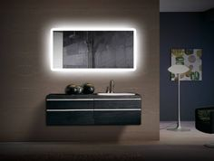 The LED lighting and warm/cool color changeable feature on this LED mirror is both modern & convenient. Upgrade your space. FREE US SHIP! Ends soon. Shop now! Backlit Mirror, Bathroom Mirror Lights, Led Mirror, Mirror With Lights, Bathroom Lighting, Mirrors, Modern Bathroom, Bathroom Ideas, Bathroom Inspo