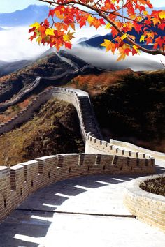 Autumn at The Great Wall of China.