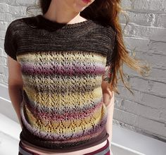 "Ravelry // pattern: Nightshade  by Simone Barry // yarn: Dyed In The Wool from Spincycle Yarns in colorway ""Payback"""