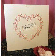 Invitatie Nunta Ieftina si Eleganta cu Inima din Flori de Cires 30336 Place Cards, Place Card Holders, Floral, Flowers, Flower