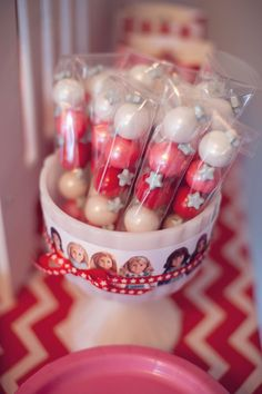 Gumball favors from American Girl Doll Themed Birthday Party at Kara's Party Ideas. See more at karaspartyideas.com!