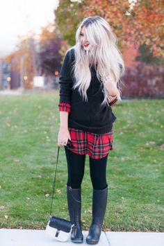 Sweater over flannel