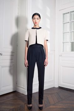 Exacting on the jacket. :  Martin Grant | Spring 2014 Ready-to-Wear Collection | Style.com