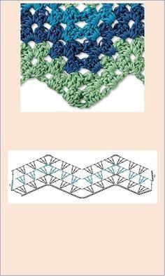 Free Knitting, Knitting Patterns, Crochet Patterns, Embroidery Art, Zig Zag, Shawl, Crochet Necklace, Crochet Hats, Create