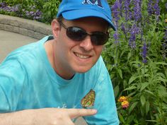 Winnipeg Zoo - Butterfly Conservatory - me with a butterfly Conservatory, Round Sunglasses, Butterfly, Photos, Fashion, Pictures, Moda, Conservatory Garden, Photographs