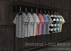 Decorative T-Shirt Recolor for The Sims 4