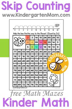 Kindergarten is a great time to exapand on preschool counting skills. Your children can begin to learn larger numbers, number words, grouping, tracking, patterns, sequencing, and even beginning operations. We're working on some amazing kindergarten math printables for this section in our site. We post often so be sure you are subscribed for updates.
