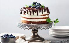 Polonahá čučoriedková torta Cheesecake Brownies, Tiramisu, Cake Recipes, Panna Cotta, Wedding Cakes, Birthday Cake, Cooking Recipes, Baking, Ethnic Recipes