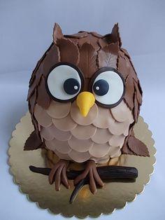 Owl Cake Birthday, Adult Birthday Cakes, Owl Cupcakes, Cupcake Cakes, Fruit Cakes, Owl Food, Ladybug Cakes, Cool Cake Designs, Animal Cakes