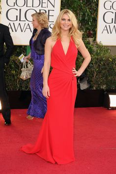 Red on the red carpet is always a risk, Claire Danes looks fresh and easy. A little plain, but still pretty.