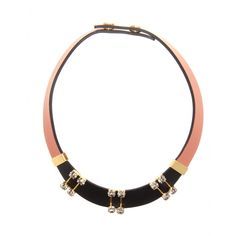 mytheresa.com - Embellished leather necklace - Necklaces - Jewellery - Accessories - Luxury Fashion for Women / Designer clothing, shoes, ba...