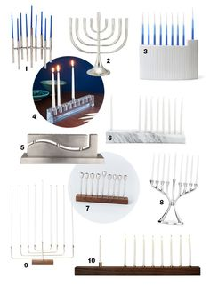 Best Modern Menorahs, 2014 Guide.  So lovely and applicable for the 2015 holiday season.