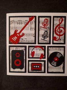 Gemaakt door Hella Coolen: letterbak kaart muziek Teenage Boy Birthday, Birthday Cards For Boys, Handmade Birthday Cards, Birthday Diy, Greeting Cards Handmade, Musical Cards, Music Paper, Magnolia Stamps, Boy Cards