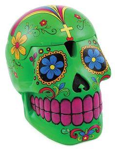 Green Day of the Dead Skull Box