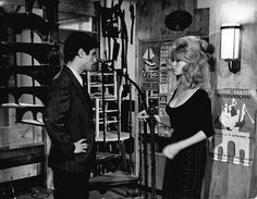 Sami Frey and Brigitte Bardot in La vérité directed by Henri-George Clouzot, 1960