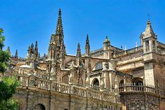 #Catedral de #Sevilla - Catedral #gótica cristiana con mayor superficie del mundo, #UNESCO.