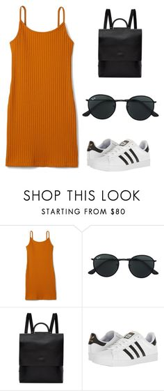 """SUMMER TIMES"" by natalialima0502 on Polyvore featuring Ray-Ban, Building Block e adidas"