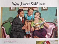 Vintage Ad NEOLITE SHOES 1949 Original by ACMEVintageLimited, $9.25