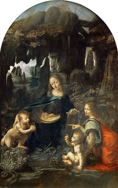 """Virgin of the Rocks"" by Leonardo da Vinci (Louvre) – Joy of Museums Virtual Tours Obras Leonardo Da Vinci, Leonardo Paintings, Michael Lang, Nativity Painting, Giorgio Vasari, Madonna And Child, Classical Art, Renaissance Art, Heritage Image"