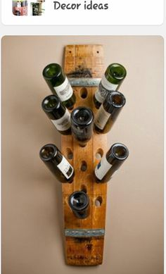 Banded 16 Bottle Wall Wine Rack by alpinewinedesign on Etsy