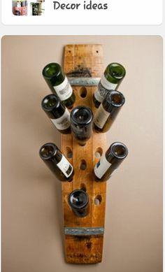 Banded 16 Bottle Wall Wine Rack by alpinewinedesign on Etsy Wine Rack Uses, Wine Barrel Crafts, Wine Rack Wall, Wine Racks, Barrel Projects, Wine Barrel Furniture, Wine Cellar Design, Bois Diy, Bottle Wall