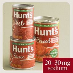 Low-Sodium Pick: Tomato Paste, Tomato Sauce, and Stewed Tomatoes No Sodium Foods, Low Sodium Diet, Low Sodium Recipes, Cholesterol Diet, Sodium Intake, Heart Healthy Recipes, Snack Recipes, Healthy Heart, Healthy Tips