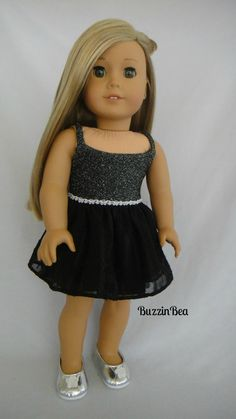 Black Sparkly Dress by BuzzinBea on Etsy  $24.00                                                                                                                                                                                 More