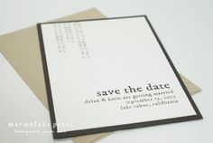 Rustic Vintage Watercolor Mini Save The Date - Nature Inspired