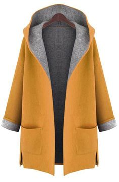 Enjoy the cold outside with free shipping&easy return! This hooded coat is detailed with drop shoulder, side pockets&side slits! Find more like this at Cupshe.com